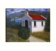 Kefalonia Chapel Art Print