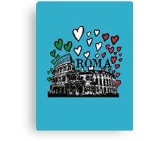 Roma flying hearts Canvas Print