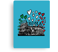 Roma flying hearts Canvas Print