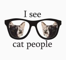 I see cat people Kids Clothes