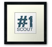 Scout Mug Design (BLU) Framed Print