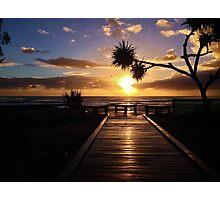 Boardwalk to the sun Photographic Print