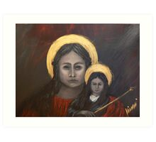 Mystical - Madona and Child  Art Print