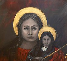 Mystical - Madona and Child  by Yianni Digaletos