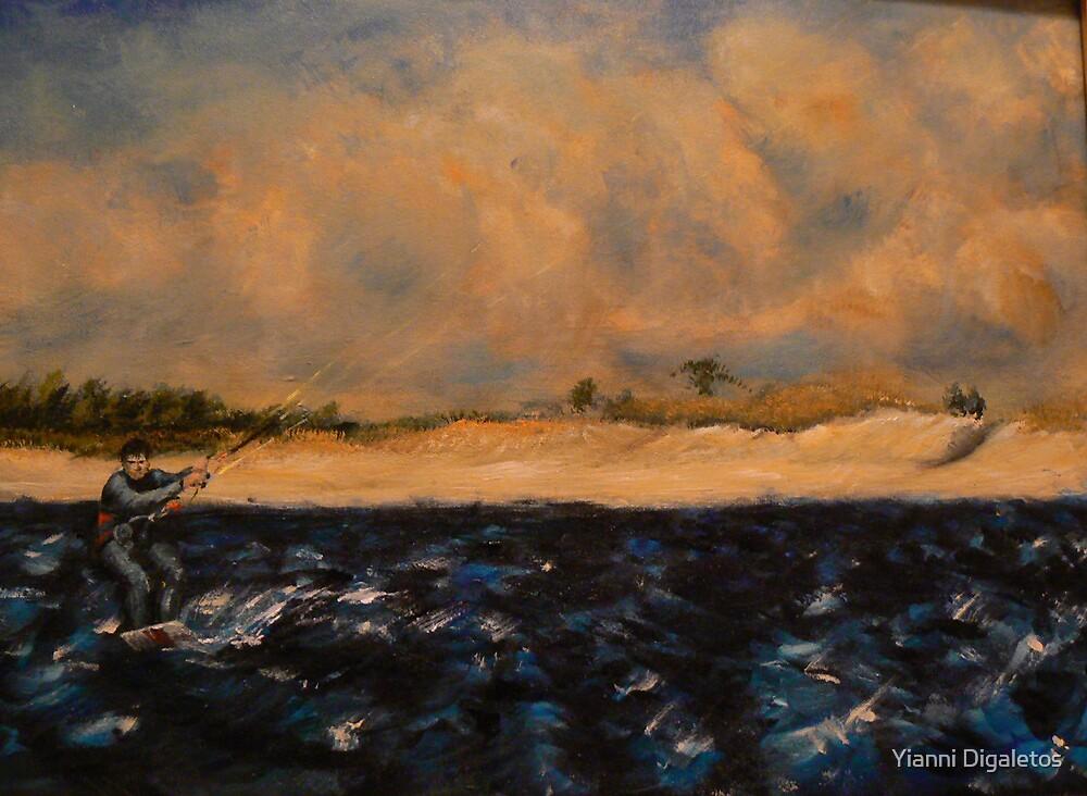 Marino Kitesurfing at Sandy Hook New Jersey by Yianni Digaletos