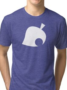 Animal Crossing Symbol - Super Smash Bros. (white) Tri-blend T-Shirt