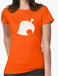 Animal Crossing Symbol - Super Smash Bros. (white) Womens Fitted T-Shirt