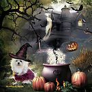Snowdrop the Maltese - Hubble Bubble at Halloween ! by Morag Bates