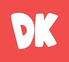 Donkey Kong Symbol - Super Smash Bros. (white) by hopperograss