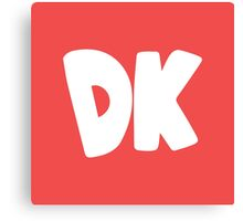 Donkey Kong Symbol - Super Smash Bros. (white) Canvas Print