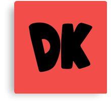 Donkey Kong Symbol - Super Smash Bros. (black) Canvas Print