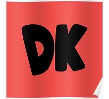 Donkey Kong Symbol - Super Smash Bros. (black) Poster
