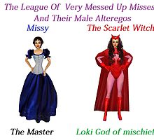 The League of very messed up misses by LokiLaufeysen