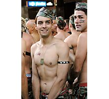 Mardi Gras 2008 Army Boy  Photographic Print