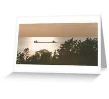 Tramp Freighter Greeting Card