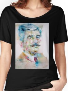 WILLIAM FAULKNER - watercolor portrait Women's Relaxed Fit T-Shirt