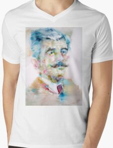 WILLIAM FAULKNER - watercolor portrait Mens V-Neck T-Shirt