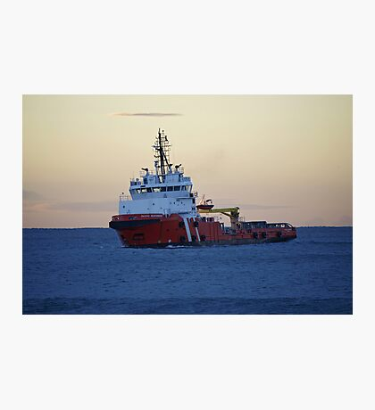 rescue tugboat Photographic Print