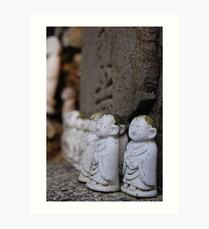 Japanese little budda Art Print