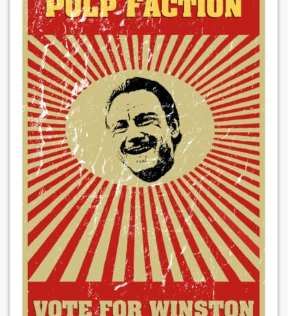 Pulp Faction - Winston Sticker
