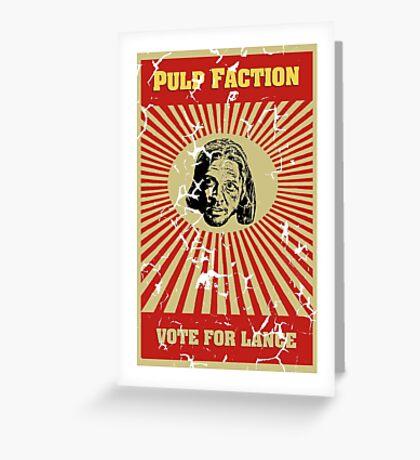 Pulp Faction - Lance Greeting Card