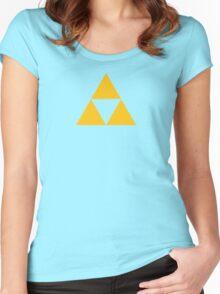 The Legend of Zelda Symbol - Super Smash Bros. (color) Women's Fitted Scoop T-Shirt