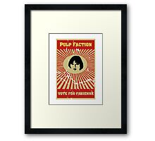 Pulp Faction - Fabienne Framed Print