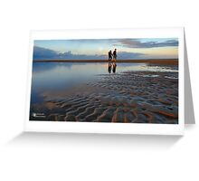 A beach walk... Greeting Card
