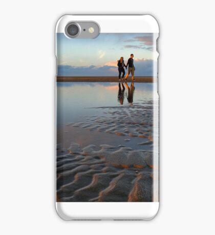 A beach walk... iPhone Case/Skin
