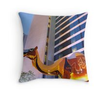 Desert animals on the coast Throw Pillow