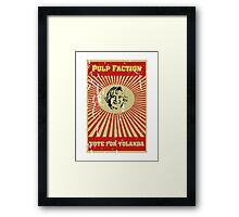 Pulp Faction - Yolanda Framed Print