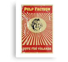 Pulp Faction - Yolanda Metal Print