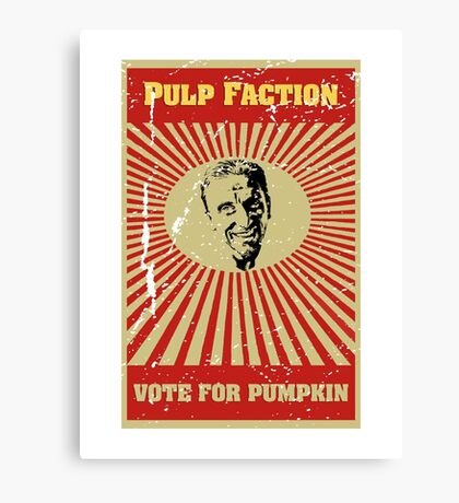 Pulp Faction - Pumpkin Canvas Print