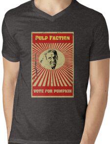 Pulp Faction - Pumpkin Mens V-Neck T-Shirt