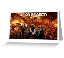 Amon Amarth Fan Art Greeting Card