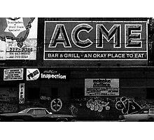 Acme advert NYC Photographic Print