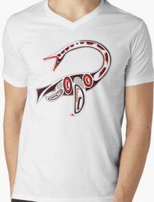 Kwakwaka'wakw elasmosaur Mens V-Neck T-Shirt
