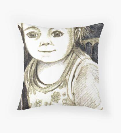 Angel Eyes Throw Pillow