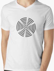 Mandala 32 Back In Black Mens V-Neck T-Shirt