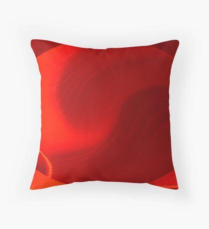 red EVOLution Throw Pillow