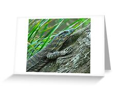 Goanna in Profile Greeting Card