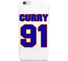 National football player Shane Curry jersey 91 iPhone Case/Skin