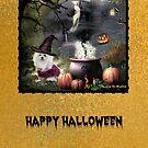 Snowdrop the Maltese Halloween Card by Morag Bates