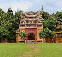 Door of the Imperial City - Hue, Vietnam.  by Tiffany Lenoir