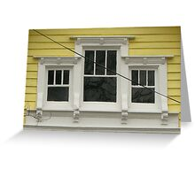 attic windows Greeting Card