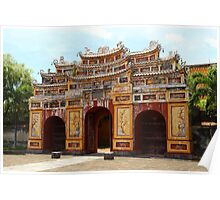 Gates of the Imperial City III - Hue, Vietnam.  Poster