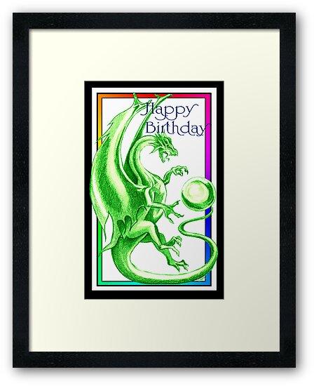 Dragon Happy Birthday Card by dimarie