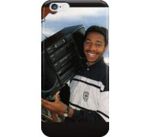 Thierry Henry With A Ghetto Blaster iPhone Case/Skin