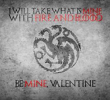 Game of Thrones Valentines: Targaryen by Alice Edwards