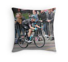 Bradley Wiggins - 2014 Tour of Britain Throw Pillow